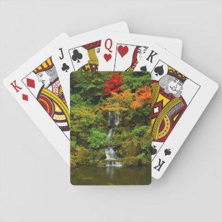 Otoño, caídas divinas barajas de cartas
