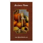 Otoño - calabaza - calabazas y maíz tarjetas de visita
