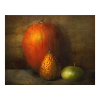 Otoño - calabaza - familia del melón tarjeton