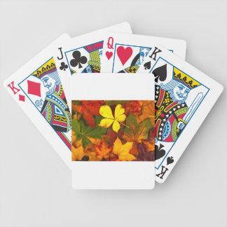 Otoño colorido cartas de juego