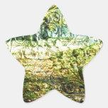 Otoño con las volutas pegatina en forma de estrella