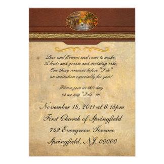 Otoño - Cranford, NJ - exploración del desconocido Invitaciones Personales