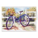 Otoño de la cesta de la bici - tarjeta en blanco