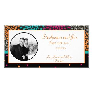 otoño de la invitación de la foto del compromiso tarjetas con fotos personalizadas