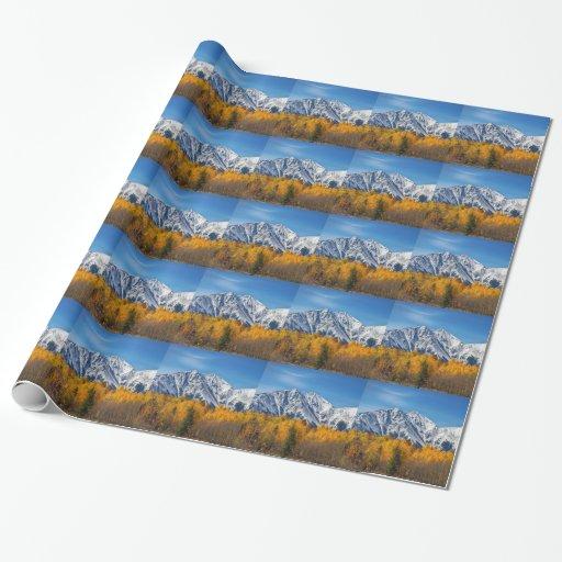 Otoño de la montaña rocosa alto papel de regalo