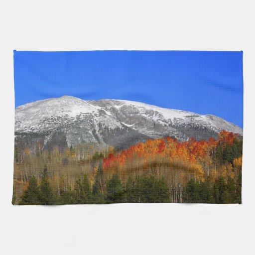 Otoño de la montaña rocosa - Colorado Toallas De Mano