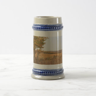 Otoño de la pradera jarra de cerveza