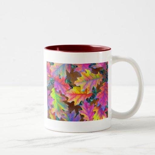 Otoño de Nueva Inglaterra Taza De Café De Dos Colores