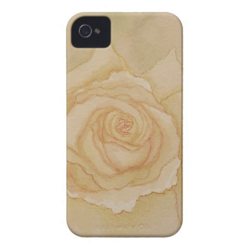 Otoño de oro romántico elegante suave subió iPhone 4 cárcasas