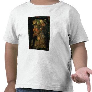 Otoño, de una serie que representa los cuatro camisetas