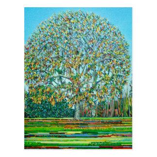 Otoño del árbol del arco tarjetas postales