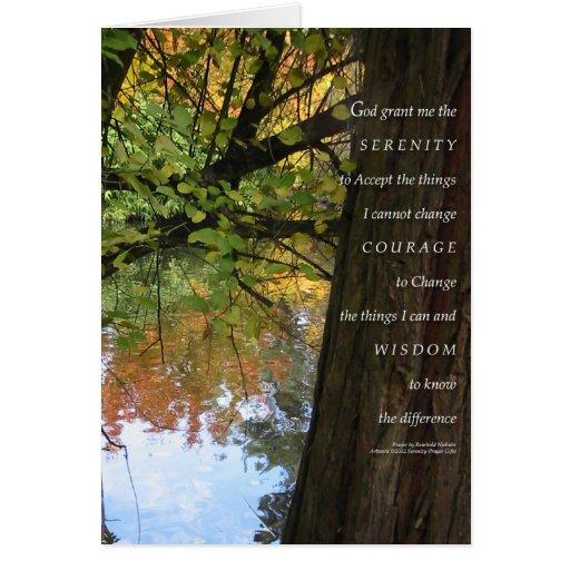 Otoño del árbol y de la charca del rezo de la sere felicitación