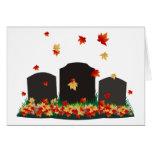 Otoño del cementerio felicitación