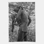 Otoño del Central Park: Estatua 01 B&W de Romeo y  Toalla