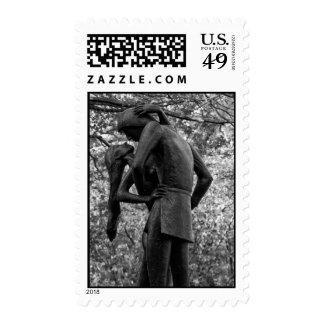 Otoño del Central Park: Estatua 01 B&W de Romeo y Sello