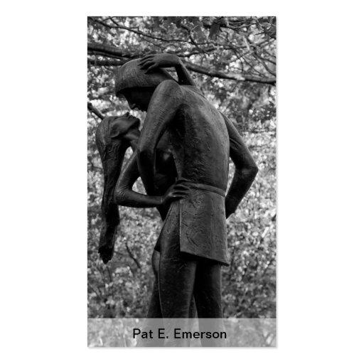 Otoño del Central Park: Estatua 01 B&W de Romeo y  Tarjeta Personal