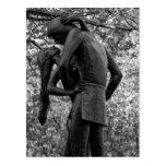 Otoño del Central Park: Estatua 01 B&W de Romeo y Postal