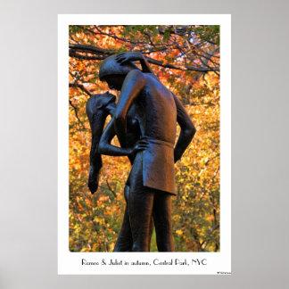 Otoño del Central Park: Estatua 01C de Romeo y de Poster