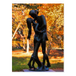 Otoño del Central Park: Estatua 02 de Romeo y de J Tarjeta Postal