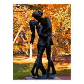 Otoño del Central Park Estatua 02 de Romeo y de J Tarjeta Postal