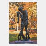 Otoño del Central Park: Estatua 02 de Romeo y de Toallas