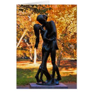 Otoño del Central Park: Estatua 02 de Romeo y de Tarjeta De Felicitación