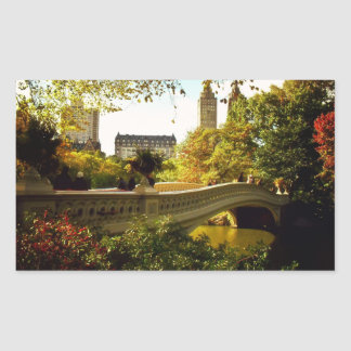 Otoño del Central Park - New York City Pegatina Rectangular