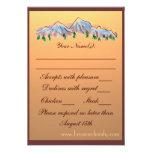 Otoño del tema de la montaña que casa las tarjetas comunicado personalizado