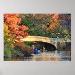 Otoño en Central Park: Navegantes por el puente Impresiones