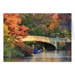 Otoño en Central Park: Navegantes por el puente Felicitación