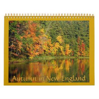 Otoño en el calendario de Nueva Inglaterra 2012