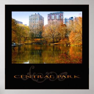 Otoño en el Central Park 22x22 Poster
