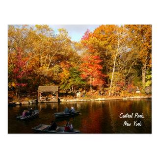 Otoño en el Central Park (color) Tarjeta Postal