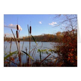 Otoño en el lago de plata #13 tarjeton