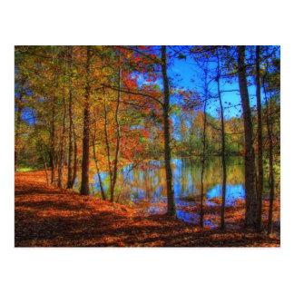 Otoño en el lago postales