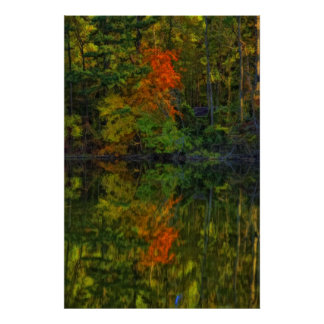 Otoño en el lago póster