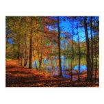 Otoño en el lago tarjeta postal