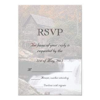 """Otoño en el país que casa RSVP Invitación 3.5"""" X 5"""""""