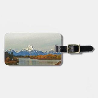 Otoño en el parque nacional magnífico de Teton Etiquetas Maletas