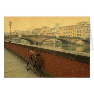 Otoño en Florencia, vintage Tarjeta Pequeña