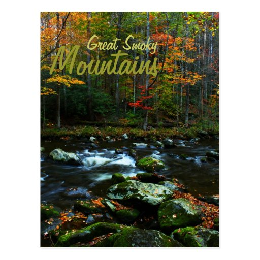 Otoño en Great Smoky Mountains Tarjetas Postales