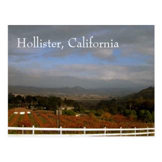 Otoño en Hollister, California Postal