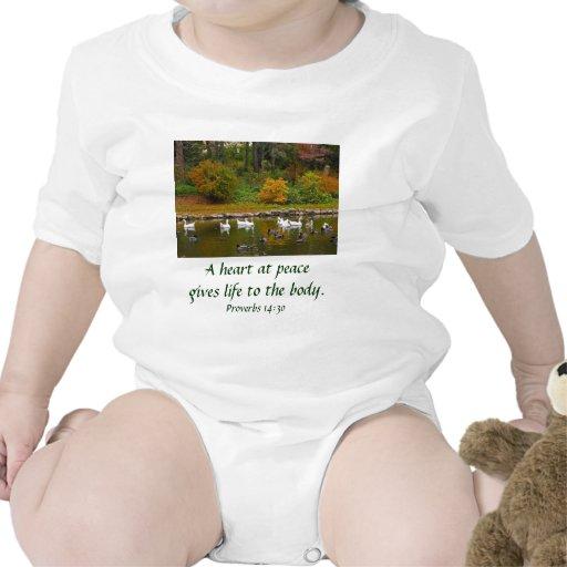 Otoño en la charca del pato trajes de bebé
