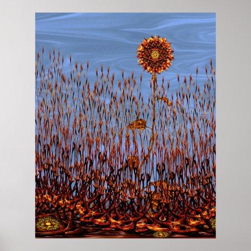 Otoño en la impresión abstracta del poster de Venu
