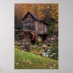 Otoño en la impresión del molino del grano para mo poster