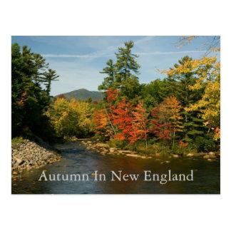 Otoño en la postal   de Nueva Inglaterra