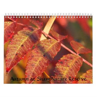 Otoño en la reserva de naturaleza de Shaw Calendarios