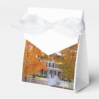 Otoño en los suburbios cajas para regalos