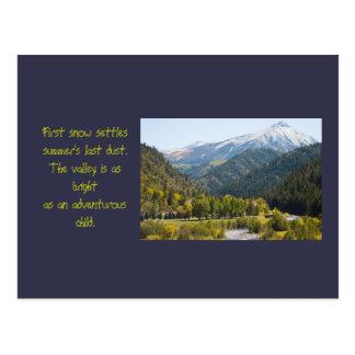 Otoño en plantilla de la foto y del poema del paso postal