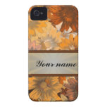 Otoño floral Case-Mate iPhone 4 protector